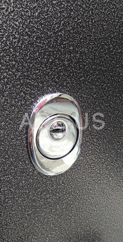 Врезная броненакладка входной двери Аргус Люкс ПРО 3К Серебро антик