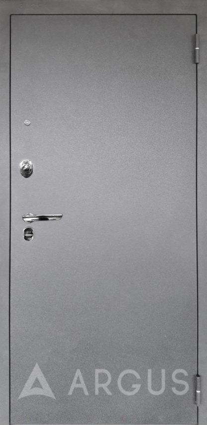 Входная металлическая сейф-дверь Аргус Люкс ПРО 3К Серебро антик