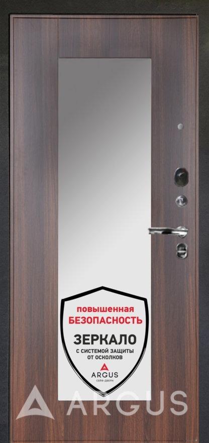 Сейф-дверь Аргус Люкс ПРО Черный шелк МИЛЛИ КОНЬЯК КАЛИФОРНИЯ