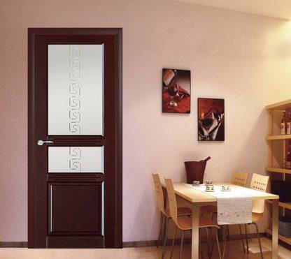 Межкомнатная дверь Аргус Джулия 2 ДО Красное дерево