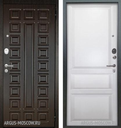 Стальная сейф дверь Аргус Люкс АС 2П Сенатор Венге/Каролина Эмаль белая