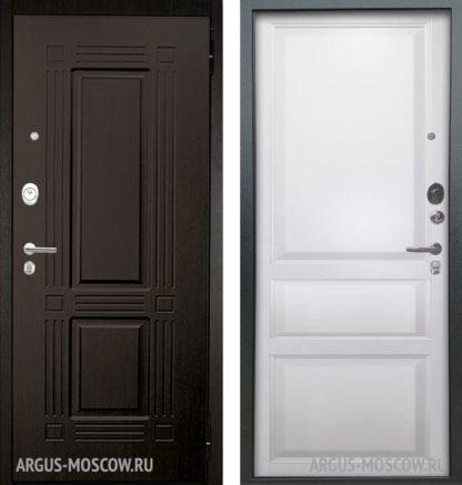 Металлическая дверь Аргус Люкс АС 2П Триумф Венге/Каролина Эмаль белая