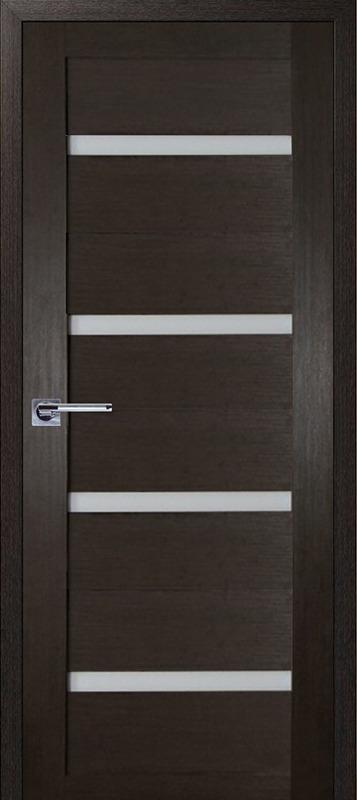 Межкомнатная дверь с белым стеклом Аргус НЕО-4 ДГО Венге