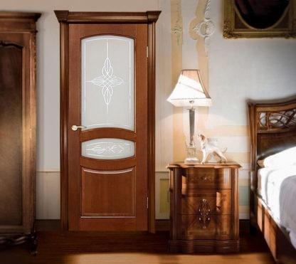 Межкомнатная дверь со стеклом Аргус Виктория ДО