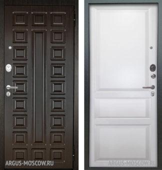 Входная сейф дверь Берлога Оптима 2П Сенатор Венге/Каролина Эмаль белая