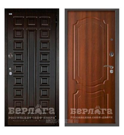Купить металлическую входную дверь Берлога Оптима 2П Сенатор Венге/Мишель Дуб рустикальный