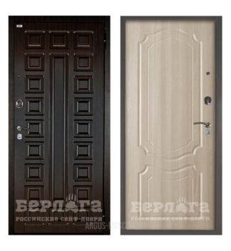 Входная дверь Берлога Оптима 2П Сенатор Венге/Мишель Ларче светлый