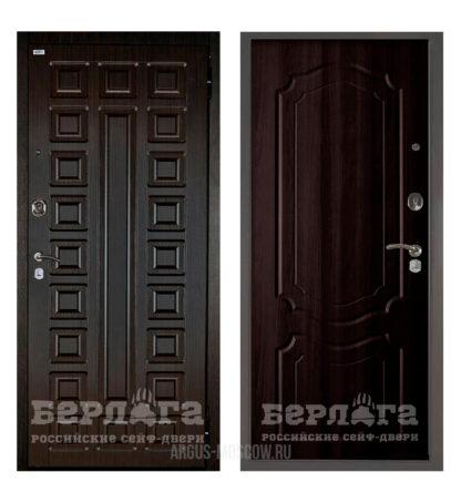 Заказать входную дверь Берлога Оптима 2П Сенатор Венге/Мишель Венге тисненый