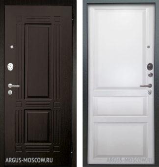 Металлическая дверь Берлога Оптима 2П Триумф Венге/Каролина Эмаль белая