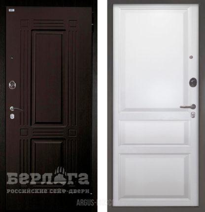 Купить выгодно входную дверь Берлога Оптима 2П Триумф Венге/Каролина Эмаль белая