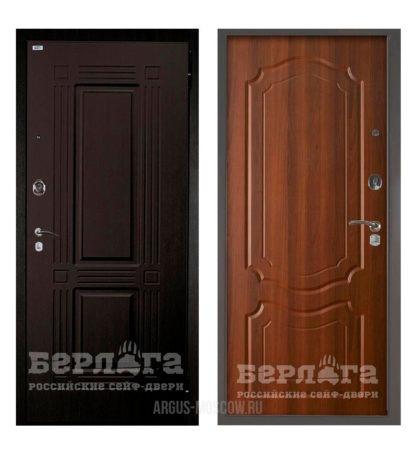 Стальная сейф-дверь Берлога Оптима 2П Триумф Венге/Мишель Дуб рустикальный