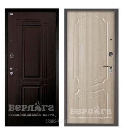 Металлическая входная дверь Берлога Оптима 2П Триумф Венге/Мишель Ларче светлый