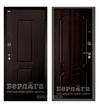 Входная металлическая дверь Берлога Оптима 2П Триумф Венге/Мишель Венге тисненый