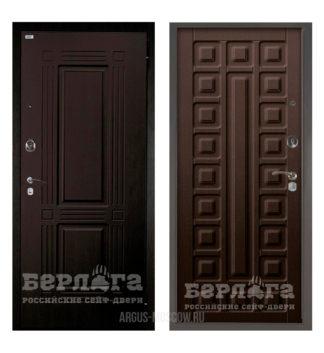 Купить недорого входную дверь Берлога Оптима 2П ТРИУМФ Венге тисненый/СЕНАТОР Венге