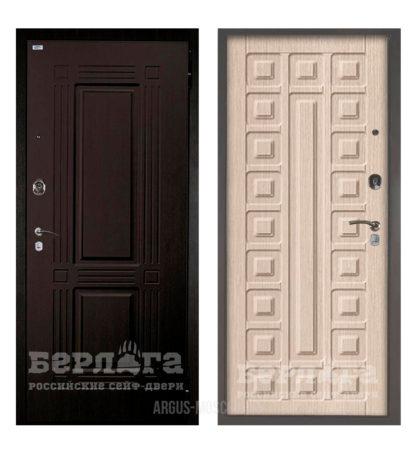 Входная белая дверь Берлога Оптима 2П Триумф Венге/Сенатор Ларче светлый