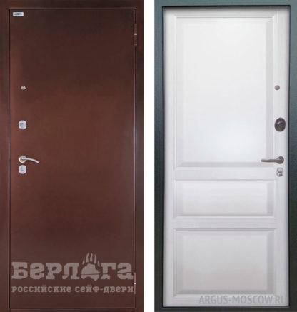 Стальная дверь Берлога Оптима Каролина Эмаль белая