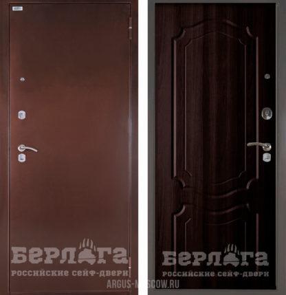 Входная сейф-дверь Берлога Оптима Мишель Венге тисненый