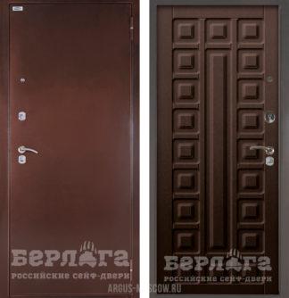 Входная дверь Берлога Оптима Сенатор Венге тисненый
