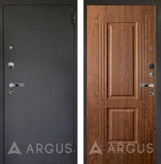 Черная дверь Аргус Люкс ПРО 3К Черный шелк ТРИУМФ Дуб золотой