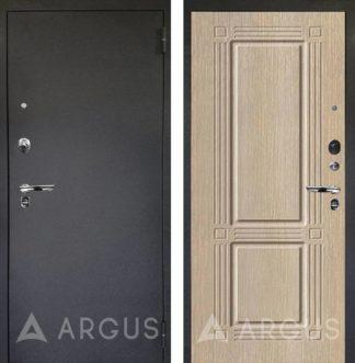 Входная дверь Аргус Люкс ПРО 3К Черный шелк ТРИУМФ Капучино