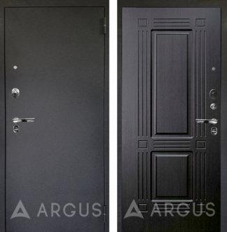Черная дверь Аргус Люкс ПРО Черный шелк ТРИУМФ ВЕНГЕ ТИСНЕНЫЙ
