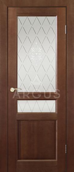 Межкомнатная дверь со стеклом Аргус Джулия 1 ДО Ирокко морение