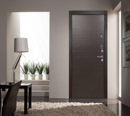Входная металлическая дверь Аргус Люкс АС Серебро антик Элегант Венге