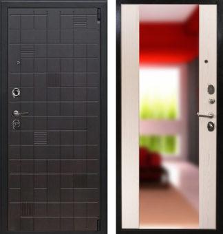 Стальная входная дверь с зеркалом Воевода Крепость