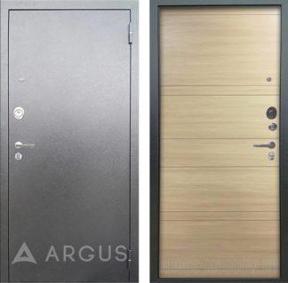Входная дверь Аргус Люкс 3К Серебро антик Агат Дуо Дорс светлый
