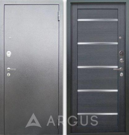 Металлическая входная дверь Аргус Люкс 3К Серебро антик Александра Лунная ночь со стеклом