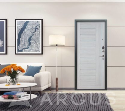 Входная стальная дверь с молдингом и стеклом Аргус Люкс 3К Серебро антик Диана Буксус