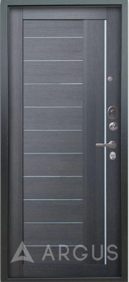 Входная металлическая дверь со вставками из стекла Аргус Люкс 3К Серебро антик Диана Лунная ночь