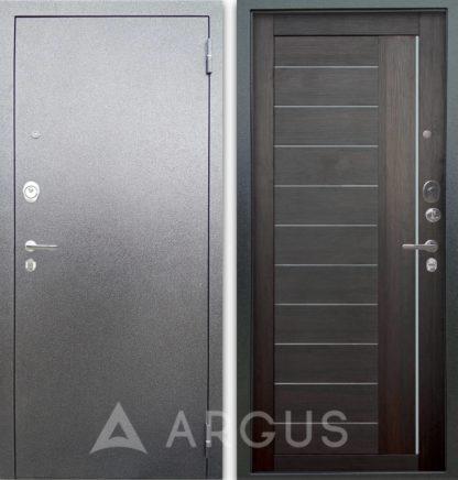 Стальная сейф дверь со вставками из стекла Аргус Люкс 3К Серебро антик Диана Вельвет