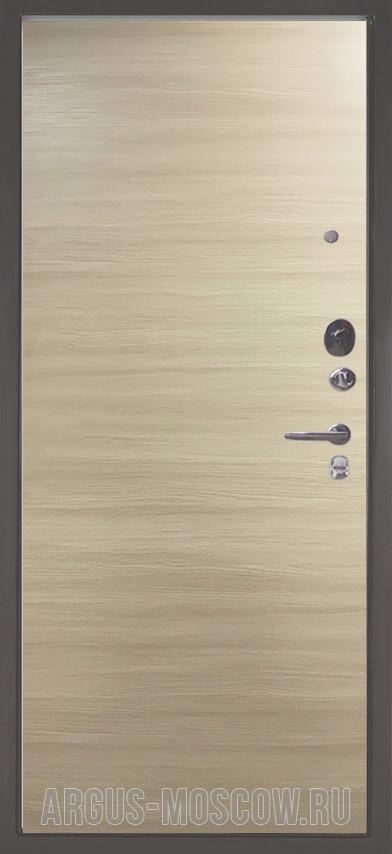 Стальная входная дверь Аргус Люкс 3К Серебро антик Элегант Дорс светлый горизонт