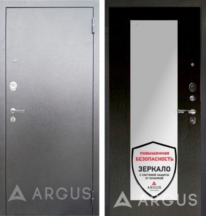 Металлическая дверь Аргус Люкс 3К Серебро антик Милли Венге