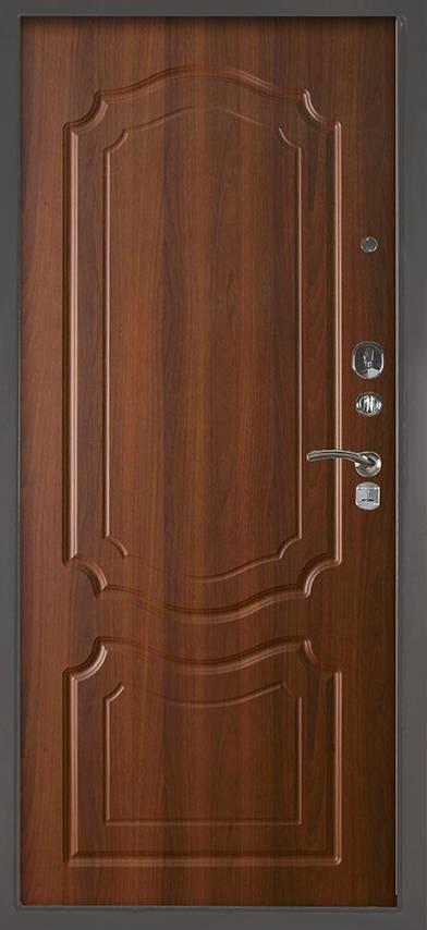 Металлическая дверь Аргус Люкс 3К Серебро антик Мишель Дуб рустикальный