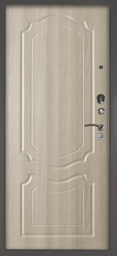 Стальная сейф-дверь Аргус Люкс 3К Серебро антик Мишель Ларче светлый