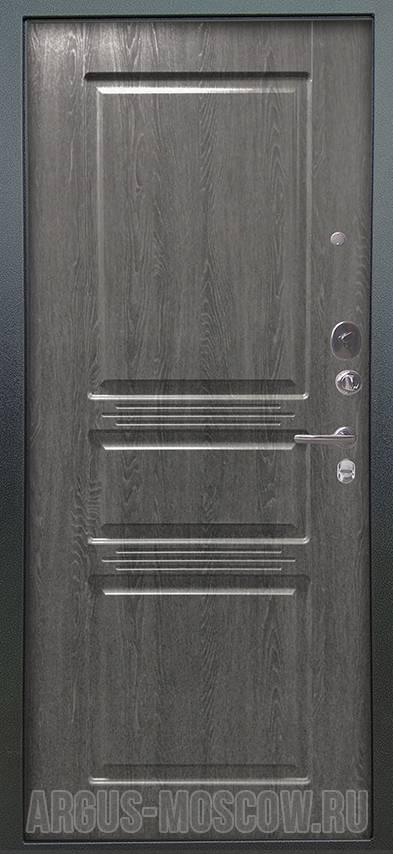 Стальная входная дверь Аргус Люкс 3К Серебро антик Сабина Дуб Филадельфия графит