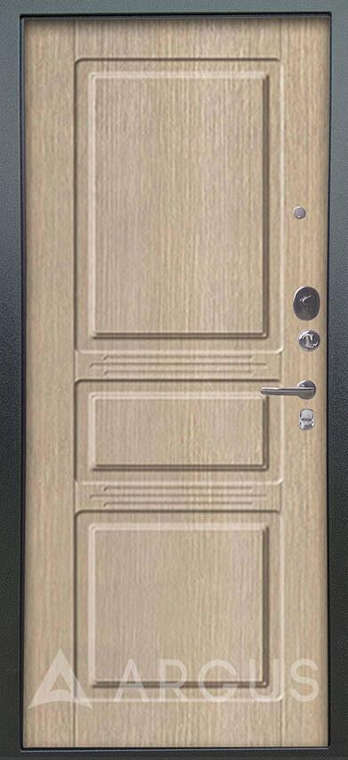 Железная входная дверь Аргус Люкс 3К Серебро антик Сабина Капучино