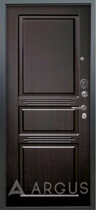 Стальная дверь Аргус Люкс 3К Серебро антик Сабина Венге тисненый