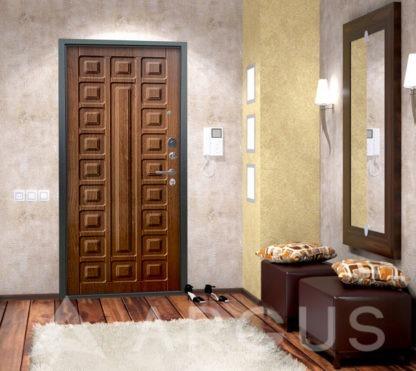 Сейф дверь Аргус Люкс 3К Серебро антик Сенатор Дуб золотой