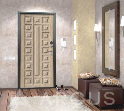 Сейф дверь металлическая Аргус Люкс 3К Серебро антик Сенатор Капучино