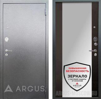Входная сейф дверь Аргус Люкс 3К Серебро антик Вояж Венге с зеркалом
