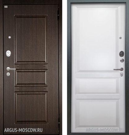 Стальная дверь Аргус Люкс АС 2П Сабина Венге/Каролина Эмаль белая