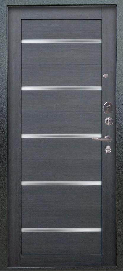 Входная дверь со стеклом Аргус Люкс АС 2П Сабина Венге/Александра Лунная ночь