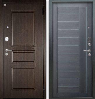 Входная дверь с молдингом Аргус Люкс АС 2П Сабина Венге/Диана Лунная ночь