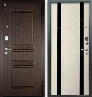 Стальная сейф-дверь Аргус Люкс АС 2П Сабина Венге/Дуэт Белое дерево