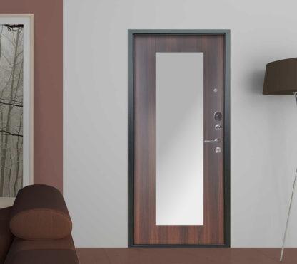Металлическая входная дверь с зеркалом Аргус Милли Коньяк Калифорния