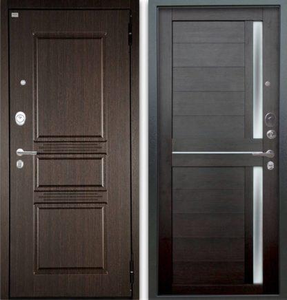 Сейф-дверь со стеклом Аргус Люкс АС 2П Сабина Венге/Мирра Вельвет