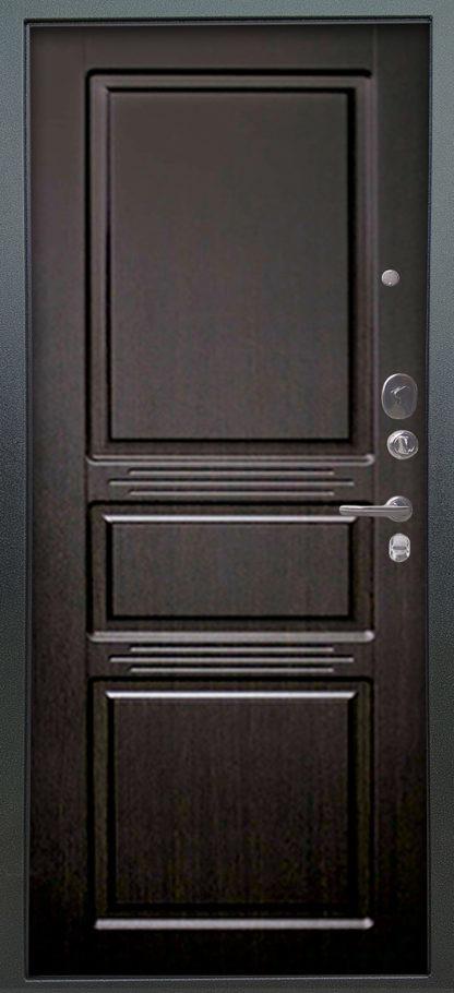 Стальная дверь Аргус Люкс АС 2П Сабина Венге/Сабина Венге тисненый